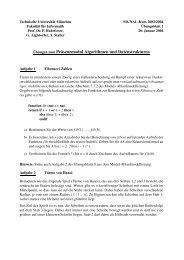 Übungen zum Präsenzmodul Algorithmen und Datenstrukturen