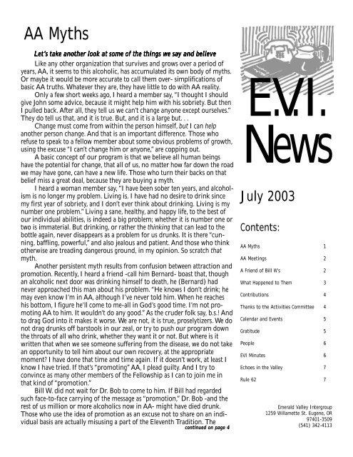AA Myths - Members.efn.org