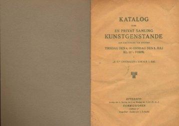 KATALOG KUNSTGENSTANDE