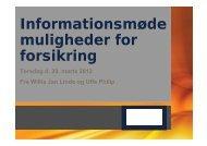 Informationsmøde muligheder for forsikring - Domea
