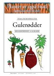 Mellemtrinnet: Grøntsager/GULERØDDER (elev+opgaver)