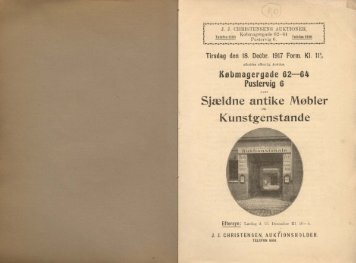 Sjældne antike Møbler Kunstgenstande