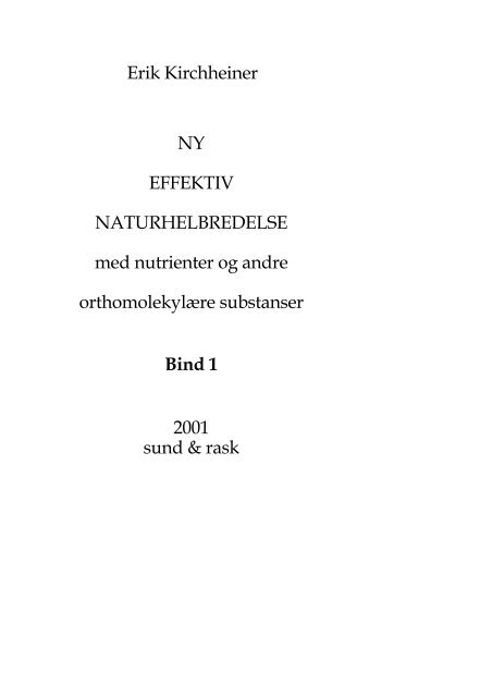 Effektiv Naturhelbredelse Bind 1 - MayDay