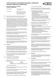 Almindelige betingelser - 3x34 Transport 34 34 34 34
