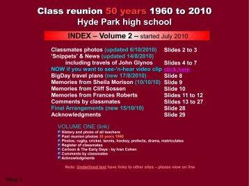 Class reunion 50 years 1960 to 2010 Hyde Park high school