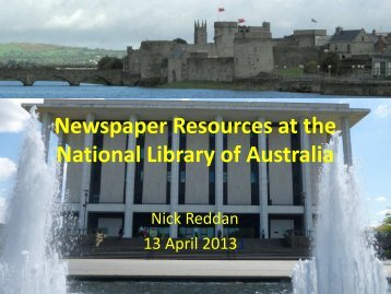 Newspaper Resources at the National Library of Australia