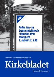 Fælles Jazz- og brunch-gudstjeneste i Næstelsø Kirke søndag den 4 ...
