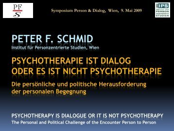Psychotherapie ist Dialog