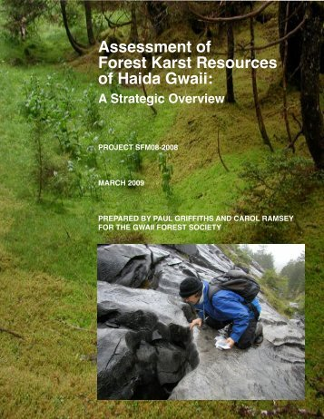 Assessment of Forest Karst Resources of Haida Gwaii: