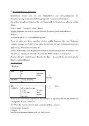 5. Das morphologische Teilsystem Morphologie befasst sich ... - Upc