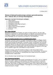 Generalforsamling Referat februar 2012 - Søllerød Kunstforening