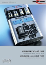 ANSMANN kAtAlog 2009 ANSMANN CAtAlogUE 2009
