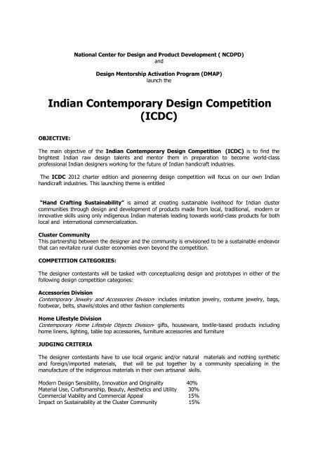 Indian Contemporary Design Competition Icdc Membraneinc Com