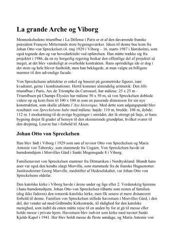 La grande Arche og Viborg - Alliance française-Viborgs