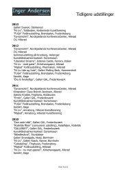 Se liste over tidligere udstillinger