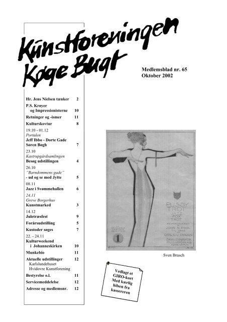 Nr 65 - oktober 2002 - Kunstforeningen Køge Bugt