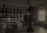 muziejaus istorija 1921– 2010 (PDF) - Ciurlionis.lt