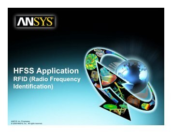 HFSS Application RFID - Ansys