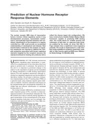 Prediction of Nuclear Hormone Receptor Response Elements