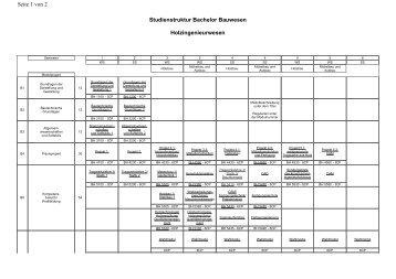 Studienstruktur Bachelor Bauwesen Holzingenieurwesen ... - HAWK