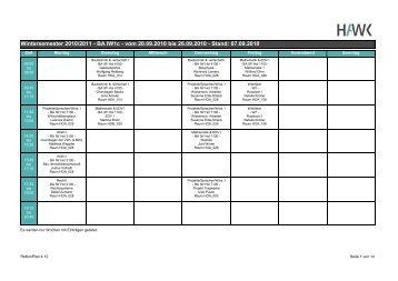Wintersemester 2010/2011 - BA IW1c - vom 20.09.2010 ... - Mentoring