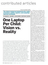 One Laptop Per Child: Vision vs. Reality - PCIC Personal Computing ...