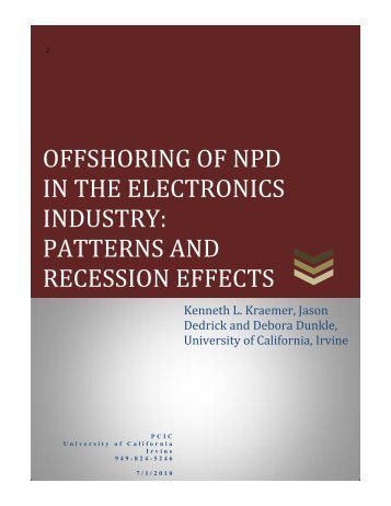 offshoring of npd in the electronics industry - PCIC Personal ...