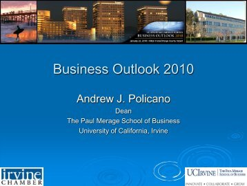Business Outlook 2010 - The Paul Merage School of Business ...