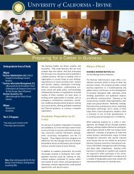 Preparing for a Career in Business - The Paul Merage School of ...