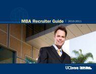 MBA Recruiter Guide | 2010-2011 - The Paul Merage School of ...