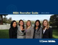 MBA Recruiter Guide | 2011-2012 - The Paul Merage School of ...