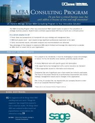 MBA CONSULTING PROGRAM - The Paul Merage School of ...