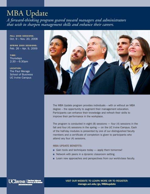 MBA Update - The Paul Merage School of Business