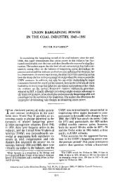 Union Bargaining Power in the Coal Industry, 1945-1981 - The Paul ...