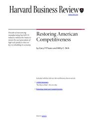 Restoring American Competitiveness - The Paul Merage School of ...