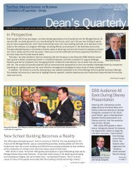 Dean's Quarterly - The Paul Merage School of Business