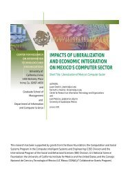 impacts of liberalization and economic integration on mexico's ...