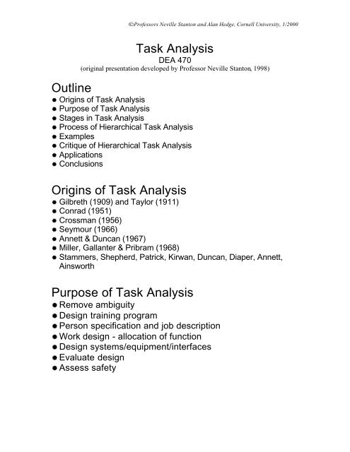 analysis outline