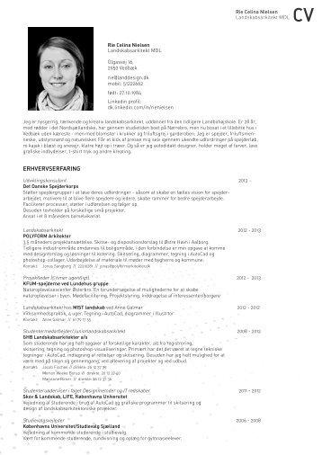 CV - Rie Celina Nielsen