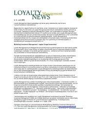 Klik her for at se eksempel på Loyalty Management News - nr. 6, juni ...