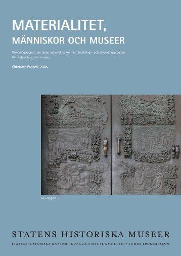 Materialitet, människor och museer - SHMM