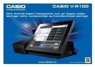 CASIO V-R100 - Kasse og Butikkdata AS