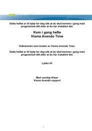 Kom i gang hefte Visma Avendo Time - Avendo AS