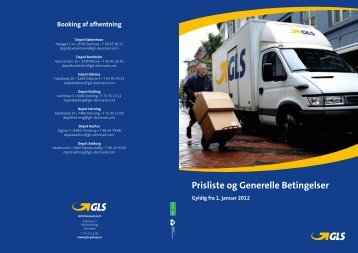 Prisliste og Generelle Betingelser - GLS