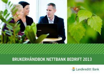 BRUKERHÅNDBOK NETTBANK BEDRIFT 2013