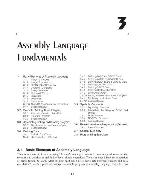 Assembly Language Fundamentals - K f u p m  OCW