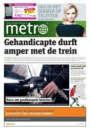 Gehandicapte durft amper met de trein - Metro