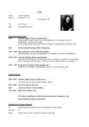 Anette Jørgensen's CV.pdf - Orifarm