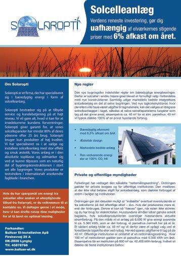 Se Brochure - Baltzer-el.dk