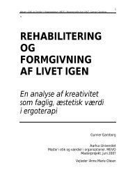 [pdf] Tekst masterprojekt - Ergoterapeutforeningen